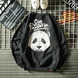 2019 pulls vintage pour hommes Japonais 3D Hoodies d'impression Hommes Panda Hip Hop Loose Vintage Pulls Hommes Loose Plus Velvet Pulls à Manches Longues Sweat Hommes promotion pulls vintage pour hommes