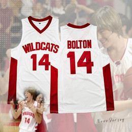 Трофейный трикотаж онлайн-Troy Bolton 14 East High School Wildcats Белый Джерси