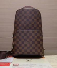 Gerçek deri erkek göğüs çantası AV. ÇANTA ÇANTASI D.GRAP. N41719 seyahat çantası MENS çapraz vücut meme omuz çantası AVENUE N41720 nereden
