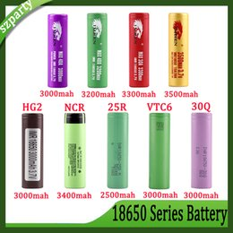 best e cig wholesale Promo Codes - Best Quality IMR 3500mAh HG2 30Q VTC6 3000mAh NCR 3400mah 25R 2500mAh 18650 Battery E Cig Mod Rechargeable Li-ion Cell Battery HOT