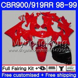 2019 cestini cbr919rr Carrozzeria per HONDA CBR 900RR CBR 919RR CBR900 RR CBR919RR 98 99 278HM.19 CBR900RR CBR 919 RR CBR919 RR ALL Red factory 1998 1999 Fairings kit sconti cestini cbr919rr