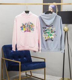 Felpe con cappuccio per uomo online-Vetements Felpa con cappuccio Uomo Donna Donna Migliore qualità Felpe blu rosa Vetements Ricamo Cartoon Vetements Pullover
