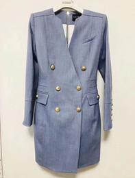 jaquetas de grife Desconto Balmain 2019 Slim fit Womens Branco Azul Designer de Festa Casual Casaco Sexy Roupas Menina jaqueta saia longa Trabalho Belo Vestido