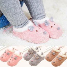 96c65e7ed G2200 New Toddler Baby Boy Girl Anti-Slip Boot Socks Cartoon Warm Socks  Slipper