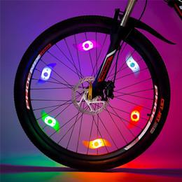 Luces de alambre de bicicleta online-Bike Spoke Light 6PCS Bike Wheel Light Tire Wire Alarma de seguridad Luces de rueda Mensaje personalizado Motor de ciclo