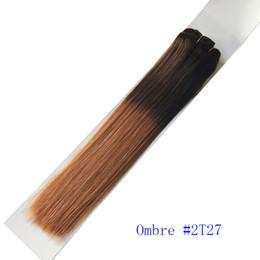 100g / piece 3 pçs / lote pervian brazlian 1bT613 2T27 1BTRED 1BT99J 1 TBHray ombre cor tecer cabelo humano de Fornecedores de armadura perviana