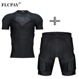 Argentina Camisa y pantalones cortos de compresión acolchados para hombres Trajes de protección Costilla en el pecho, cadera, muslo Protector para fútbol, pelota de béisbol Hocky Béisbol cheap paintball pads Suministro