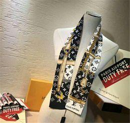 2019 cinto de gravata de seda Top qualidade de seda de luxo de dupla camada headband impresso tie lenço amarrar multi-purpose wome marca saco decorativo cinto exclusivo atacado 7 * 12 cinto de gravata de seda barato