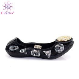 scarpe da sole morbide nere Sconti 2019 Moda africana Appartamenti con diamanti nigeriani Appartamenti italiani da donna casual con suola morbida nera taglia 38-44