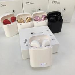 Deutschland Bluetooth Kopfhörer I7 I7S TWS Twins Earbuds Mini drahtloser Kopfhörer-Kopfhörer mit Mic Stereo V5.0 für Telefon Android mit Kleinpaket Versorgung