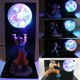 2019 luce notturna decorativa diy Dragon Ball Z Super Goku Vegeta Gogeta Action Figures Lampada Ultra Instinct DIY Modello Anime Camera da letto Decorativo Luce notturna Regali Y190529 luce notturna decorativa diy economici