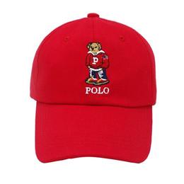 Gorras de oso online-Ocio al aire libre de dibujos animados Polo Bear Cap la nueva gorra de béisbol negro Hockey Gorra Retro Fashion Hat 5 colores envío gratis