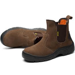 Masorini дышащий открытый корова замша кожа сталь Toe рабочие ботинки обувь мужчины противоскользящие прокол доказательство безопасности обувь сапоги WW-811 от