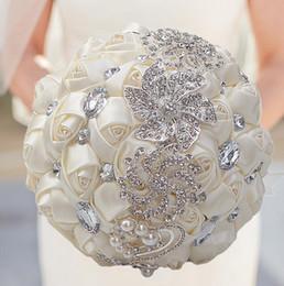 fã de ouro rosa Desconto Novo casamento flores de cristal Bouquets de casamento Flores Bridal Bouquets de casamento decoração Bouquet Mariage Em fontes Stock partido