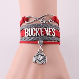 охио государственные украшения Скидка Инфинити Лав Огайо State Buckeyes браслет NCAA Спортивная Команда канатные футбольные браслеты-браслеты для женщин, мужчин, ювелирные изделия