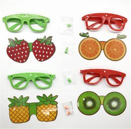 Vasos con forma de fruta online-Venta caliente Fruta Creativa En Forma de Gafas de Sol Moda Niños Gafas Decorativas Hechas A Mano DIY Party Cartoon Eyewear Favor de Partido