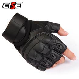 Искусственная кожа мотоцикл перчатки без пальцев военный тактический Велоспорт мотоцикл мотокросс жесткий кулак половина палец защитное снаряжение MX190817 от