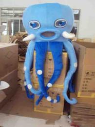 2019 traje de mascote de polvo Venda quente Octopus Mascot Costume Adulto Tamanho Do Animal Do Mar Octopus Carnaval Partido Xmas Cosply Mascotte Terno Kit desconto traje de mascote de polvo