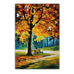 HD Canvas Wall Art Prints Pittura a olio di paesaggio per soggiorno Decorazione della casa Foglie di acero in autunno No incorniciato di alta qualità da foglia d'arte incorniciata fornitori
