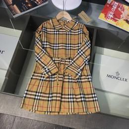 Jupe occidentale princesse en Ligne-smart_kid Designer de luxe robe bord motif design pastorale fille robes à manches longues Princess Western Style jupe enfants 0818