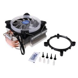 avc 12v dc fan Desconto As tubulações de calor do radiador 4 do processador RGB do processador do computador do refrigerador do processador central do ventilador de refrigeração Dual a torre para Intel e AMD