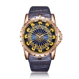 2020 orologi sportivi mens unici Genuine Leather ONOLA Mens Watch Moda da polso al quarzo uomo orologi impermeabile unico casuale degli uomini Orologi Movimento Giappone orologi sportivi mens unici economici