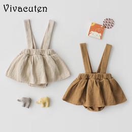 2019 chicas flora vestidos de algodon Nacidos algodón de los bebés ropa vestido de la correa monos vestidos de bebé linda de las señoras trajes de bebé, niño del traje del mono flora chicas flora vestidos de algodon baratos