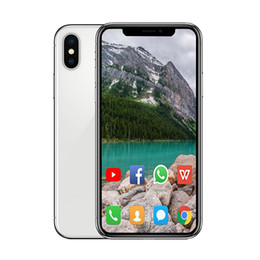 2019 bar barato gsm bar Android Goophone XS MAX 6.5 pulgadas teléfono inteligente ram 1G rom 8G 16G Face ID Quad Core MTK6580 de carga inalámbrica GSM WCDMA teléfono