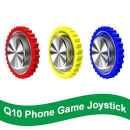 manijas de los casos de iphone Rebajas Gamepad móvil maneja el teléfono Rocker Para el soporte de la carcasa de la cáscara del Iphone Juego Redondo joystick disparador de fuego todo en uno para PUBG Controlador Con Su