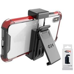 amplificador de teléfono celular Rebajas Funda universal con clip para cinturón para el soporte del teléfono celular para iPhone X 8 Plus Samsung Galaxy S9 Plus Note 9 Phone Grip