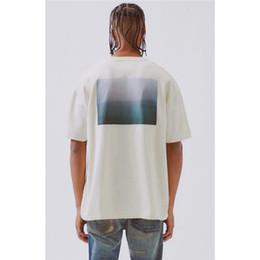 2019 fotos calientes masculinas Para hombre de la calle de Hip Hop Moda Marca caliente Venta Imprimir camisetas flojas de la impresión fotográfica Camisetas de manga corta Casual Male fotos calientes masculinas baratos