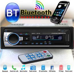 mãos livres bluetooth chinês Desconto Rádio do carro do bluetooth jogador estéreo mp3 usb / sd / fm usb mp3 player de rádio receptor de entrada aux chamadas hands-free USB Flash Disk dvd do carro