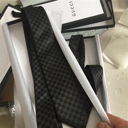 corbatas para hombres Rebajas Corbata superior corbata de seda de hombre casual corbata de negocios de 7.5 cm corbatas de diseñador de lujo con caja de marca