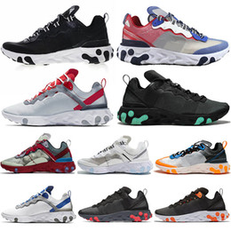 nike react element 87 nike react element 55 UNDERCOVER Triple off white vans Nero Moda Uomo Running 87 Scarpe da donna Designer Scarpe Uomo Sneaker Sail Light Bone Sneakers 36-45 da