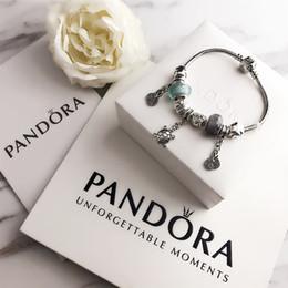 2020 PandoraDIY Mücevher Kutusu M101930 ile Kadınlar Bilezikler Charm Bilezik Paslanmaz Çelik Vida Manşet Bracciali Lady Hediye bracciale nereden ayı broş tedarikçiler