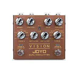 2019 simulador de guitarra JOYO R-09 VISION Pedal de efectos de guitarra eléctrica Procesador de doble canal Pedal efectos digitales Guitarra estéreo para zurdos