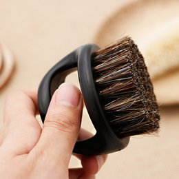 Top Barba da uomo Spazzola per baffi Barbiere Parrucchiere Uomo Barba facciale Apparecchio per la pulizia Strumento da barba Rasoio Cinghiale Spazzola per barba Spazzola con manico da