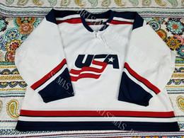 billige hockeyschnürsenkel Rabatt BILLIGE BENUTZERDEFINIERTE USA-Hockey-Jersey-Männer Vintage 2000 schnüren sich oben Hals US-Olympics Personifizieren Sie jeden möglichen Namen und Zahl