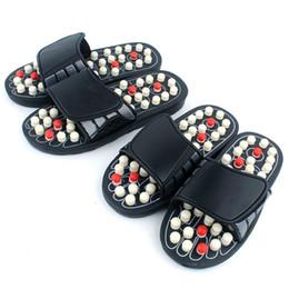 Argentina Zapatillas de masaje de punto de acupuntura Sandalia para hombres Pies Terapia de acupresión china Giratoria médica Masajeador de pies Unisex supplier massager shoes Suministro