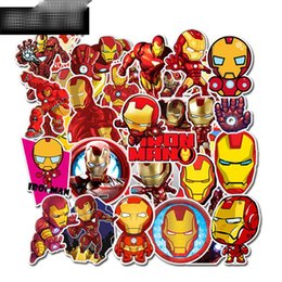 Eisen kinder aufkleber online-35 Stück / Set Avengers 4 Endgame Superheld Graffiti-Aufkleber Gepäck DIY Aufkleber Iron Man PVC-Wand-Aufkleber Tasche Kinder Spielzeug C22