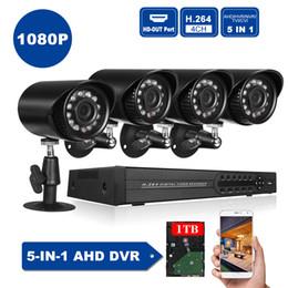 tvi dvr Rebajas 4CH 1080P Híbrido NVR AHD TVI CVI DVR Grabadora de video digital 5 en 1 con APP Motion para el sistema de seguridad de vigilancia de CCTV DVR