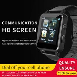 2019 яблоко сенсорный экран смотреть дети X8 Новый цветной экран Смарт-карта для часов Bluetooth Call Watch с сенсорным экраном Спортивный бизнес Phone Watch Call Поддержка Android и Apple Phone