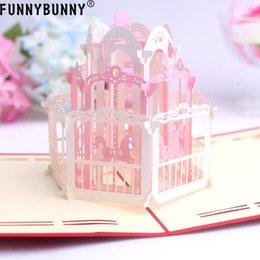 Handgemachte karten für liebhaber online-FUNNYBUNNY Handmade Carousel 3D Geburtstagskarte Kinder Dankeskarten mit Umschlägen für Familienliebhaber Freunde für alle Gelegenheiten