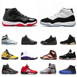 Cappelli di esercito maschile online-Nike air Jordan retro 11 Bred 11s Concord Mens Basketball shoes 8 8s 12s 12 Gym Red 13s 13 Cap and Gown 4s 4 Michigan 6s 6 South Beach 5s 5 7s 7 Sports sneakers 5.5-13