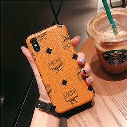 2019 coque iphone luxus Mode marke designer phone cases abdeckung coque für iphone xs max xr 6 7 8 plus case berühmte luxus leder telefon case günstig coque iphone luxus