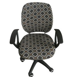Sitzlifte online-Spandex Elastic Computer Chair Schonbezug Bürostuhlbezug Print Flower Arm Cover Sitz Schonbezug Rotat Lift Covers