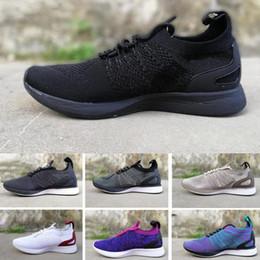 nike air flyknit race 2017 el más nuevo Air Zoom Mariah Fly Racer 2 mujeres hombres atléticos zapatos casuales negro AIR Zoom Racer Sneaker Training zapatos ligeros desde fabricantes
