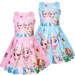 2019 vestido de niña bebé europeo Vestidos para niñas 2019 nueva ropa de diseñador para bebés ropa de primavera, moda europea y americana, muñeca impresa digital, falda para niños vestido de niña bebé europeo baratos