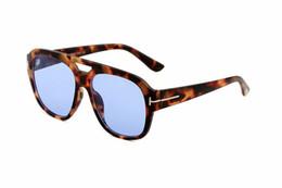 Nuevas gafas de sol de gran tamaño de las mujeres diseñador de la marca marco cuadrado gafas de sol 2019 estilo del verano del espejo ocasional gafas de sol lente azul TF 0630 desde fabricantes