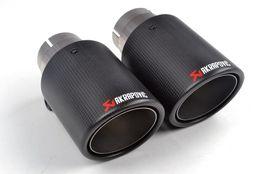 enfriamiento del tubo de calor Rebajas 2 piezas (un par) Multi entrada 63MM Akrapovic carbono Tip Tubo de escape finales Tubos de escape de carbono AK accesorios del coche Consejos Silenciador